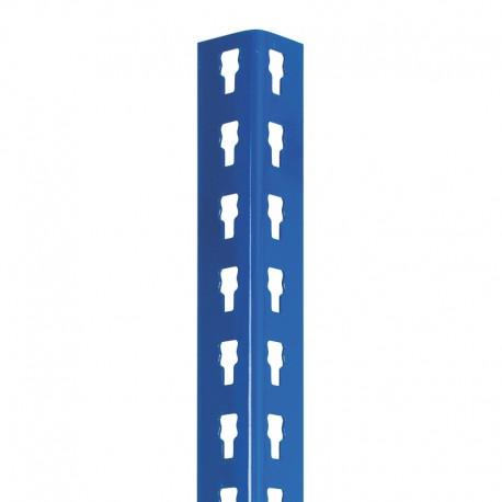 Perfiles perforados azules, sección 40x40 mm