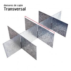 Divisor de cajón transversal metálico